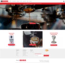 Si, Espresso homepage webdesign