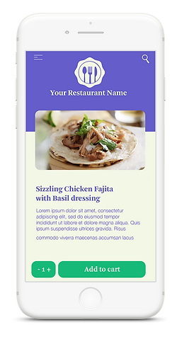 iPhone with Running Chef delivery app on screen