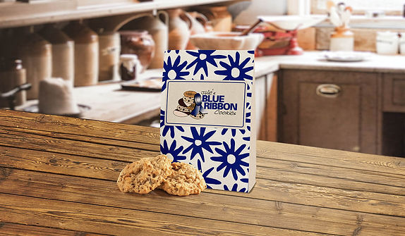 A gifr bag of Julie's Blue Ribbon Cookies