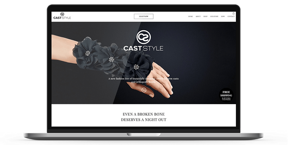 Cast Style webdesign on laptop