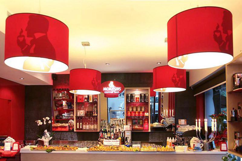 Moka Sir's flagship café in Pavia, Italy