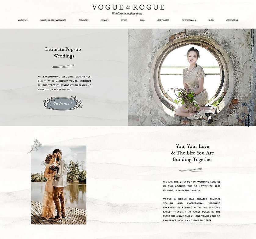 Vogue and Rogue website hompage