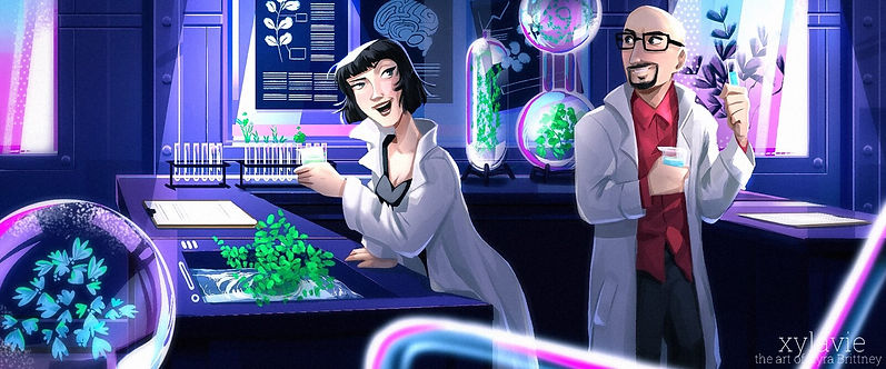 Dr Pharma and Mr Lab in a scene from The Earth Keeper's Challange