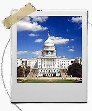 polaroid photo of the US Capitol