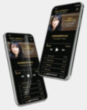 Tara Langell Voiceover Artist Webdesign on mobile phone