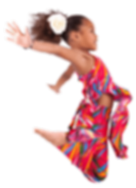 Photo of happy young girl jumping