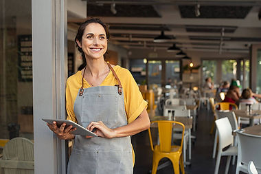 Restaurant owner using App to call delivery service