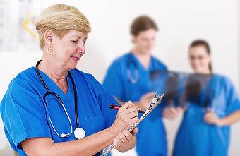 A middle aged nurse