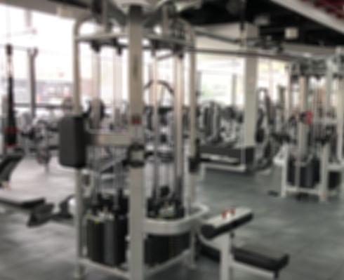 gym interior with weight machines