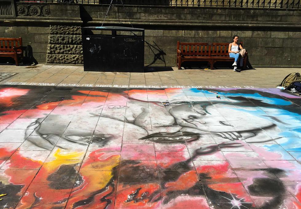 The Birth of the Light Street Art by Daniel K Swan