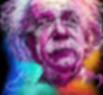 Einstein Digital Colour Portrait by Dani