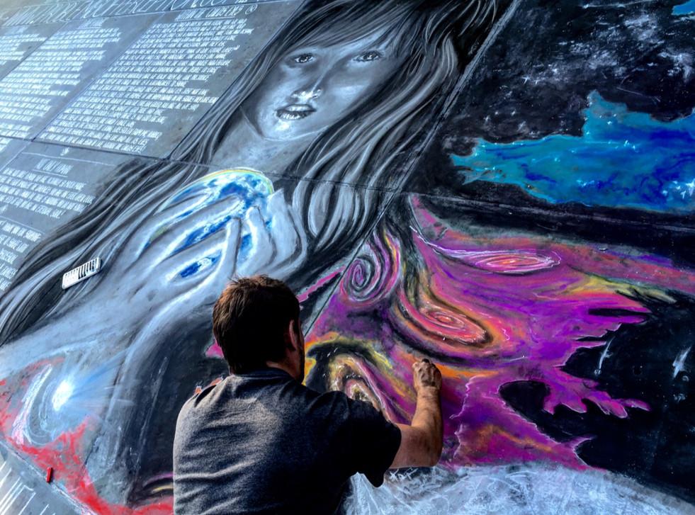 Enlightenment being drawn by Daniel Swan
