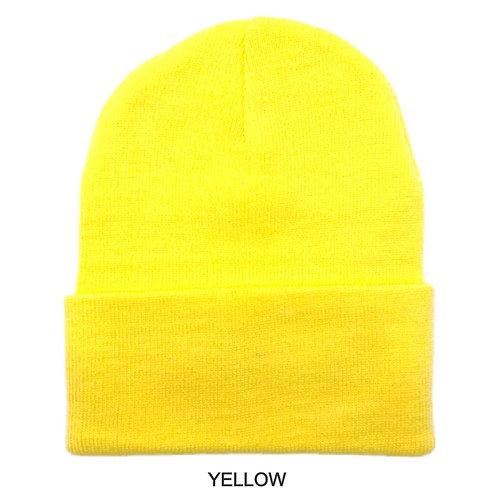 Winter Beanie Hats for Men Women, Warm Cozy Knitted Cuffed Skull Cap