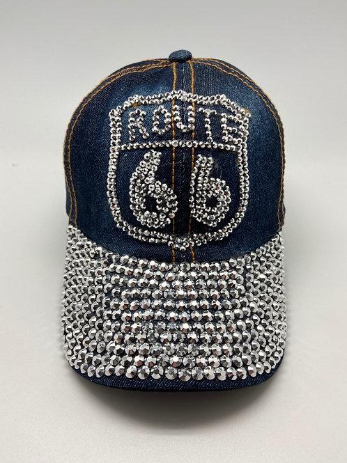 ROUTE 66 BLING HAT/CAP