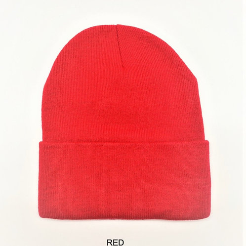 NewLife Plain 100% Acrylic Knit Cuff Red Beanie Knit Hat/Cap for Unisex
