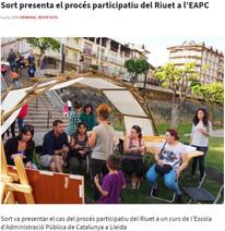 Sort presenta el procés participatiu del Riuet a l'EAPC
