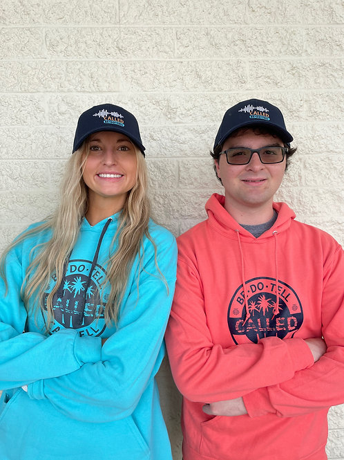 Hoodie with beach Caswell 'Called' design for guys and girls