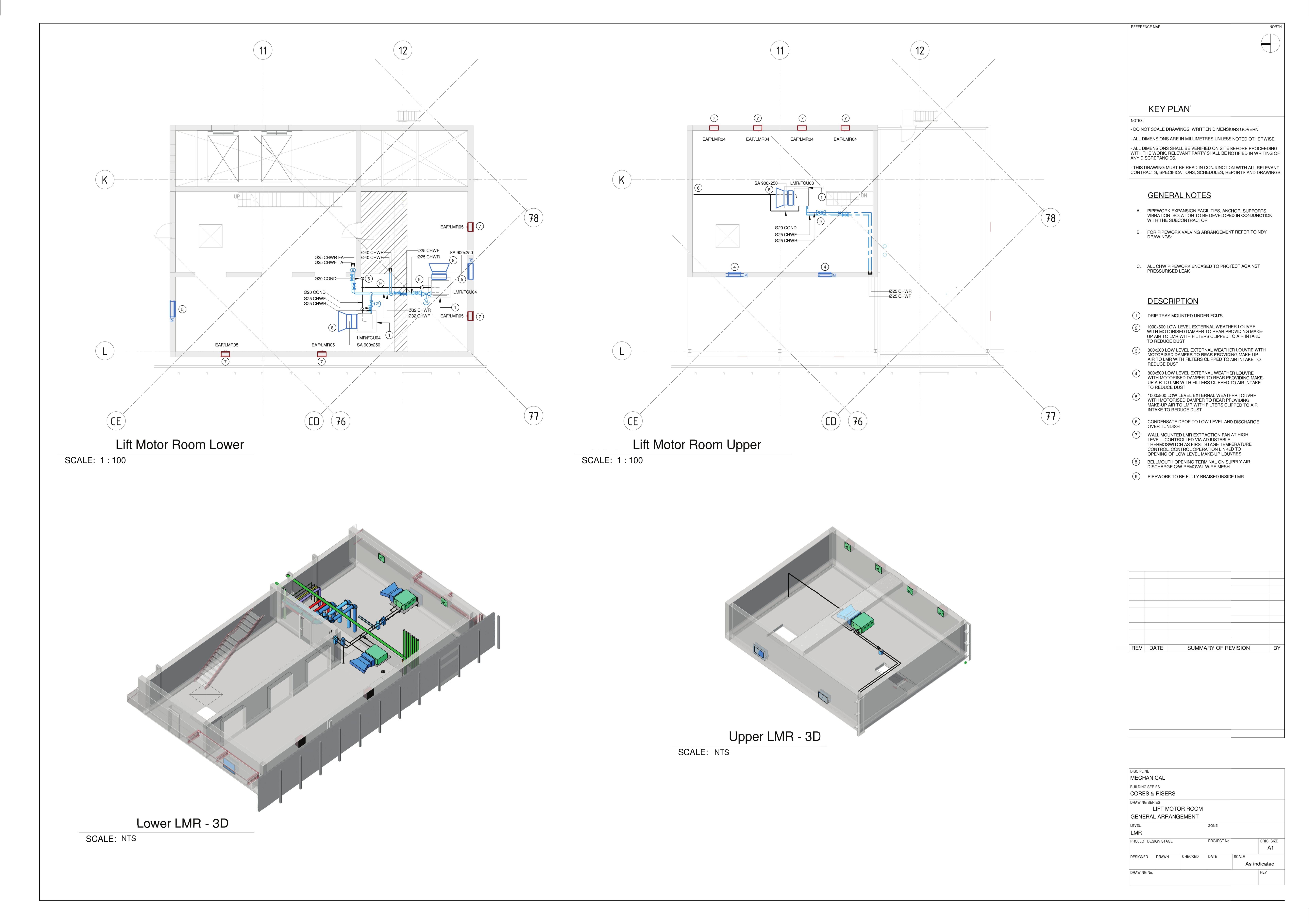 Lift Motor Rooms General Arrangement