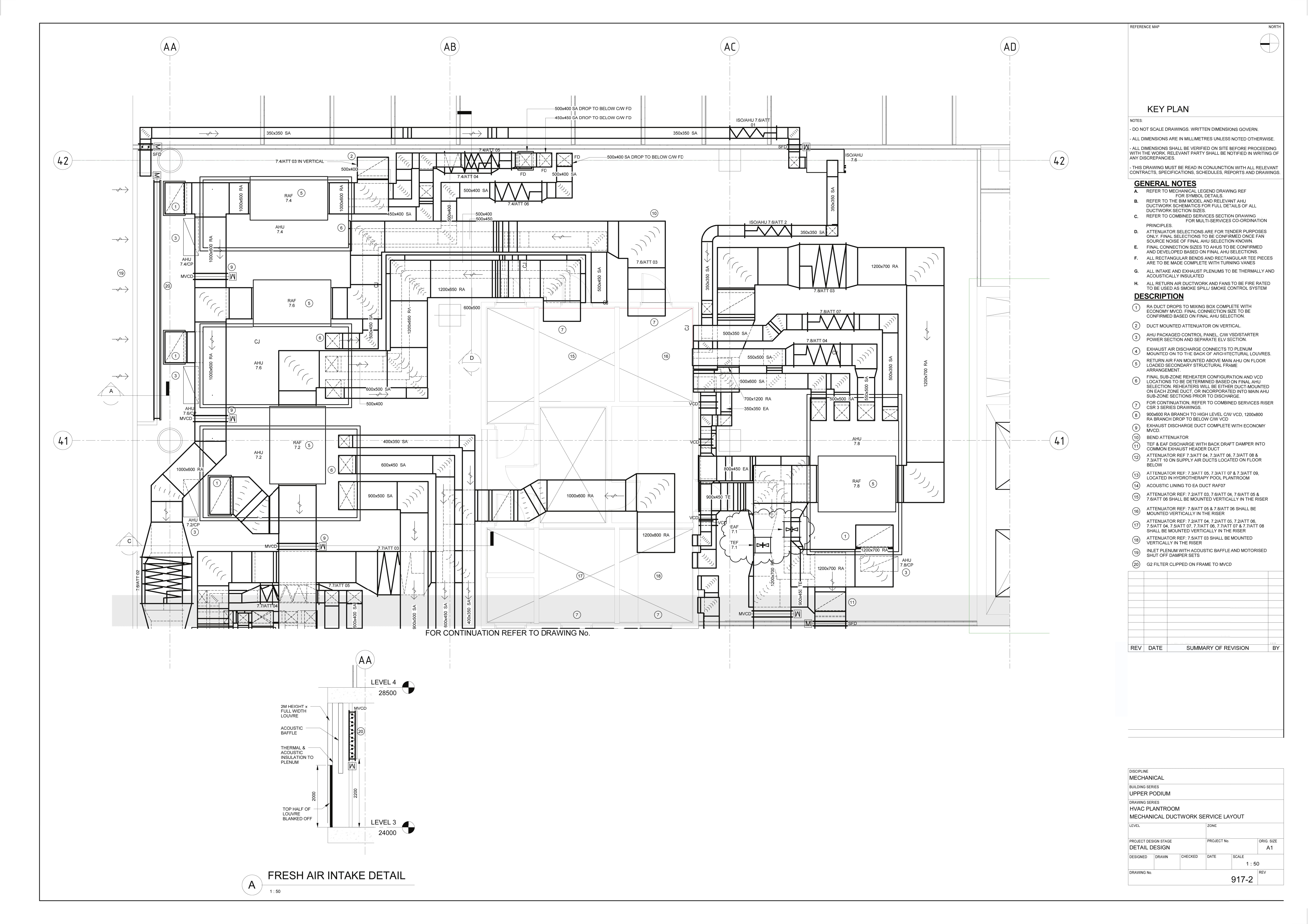 Mechanical Ductwork Service Layout 2