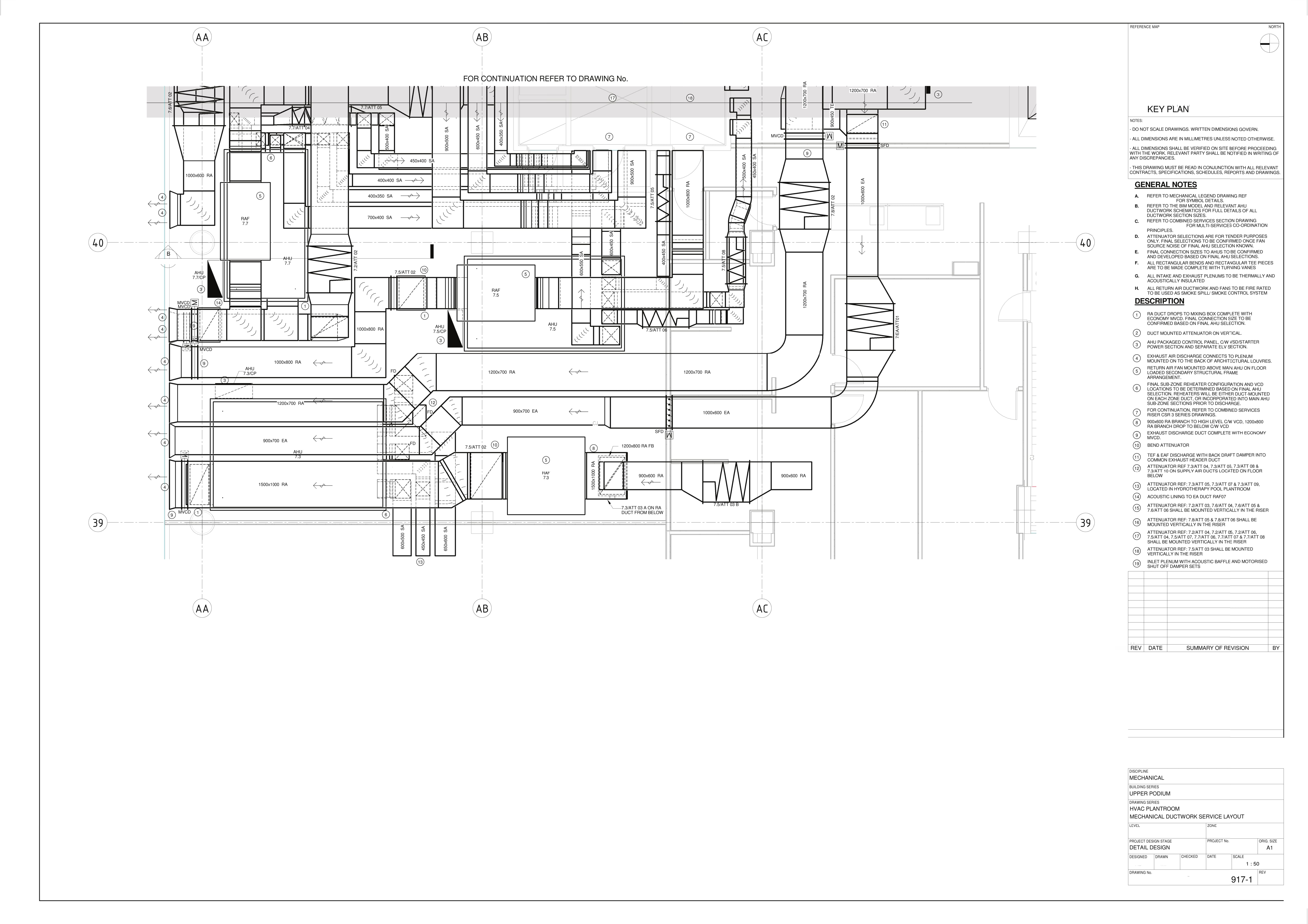 Mechanical Ductwork Service Layout 1