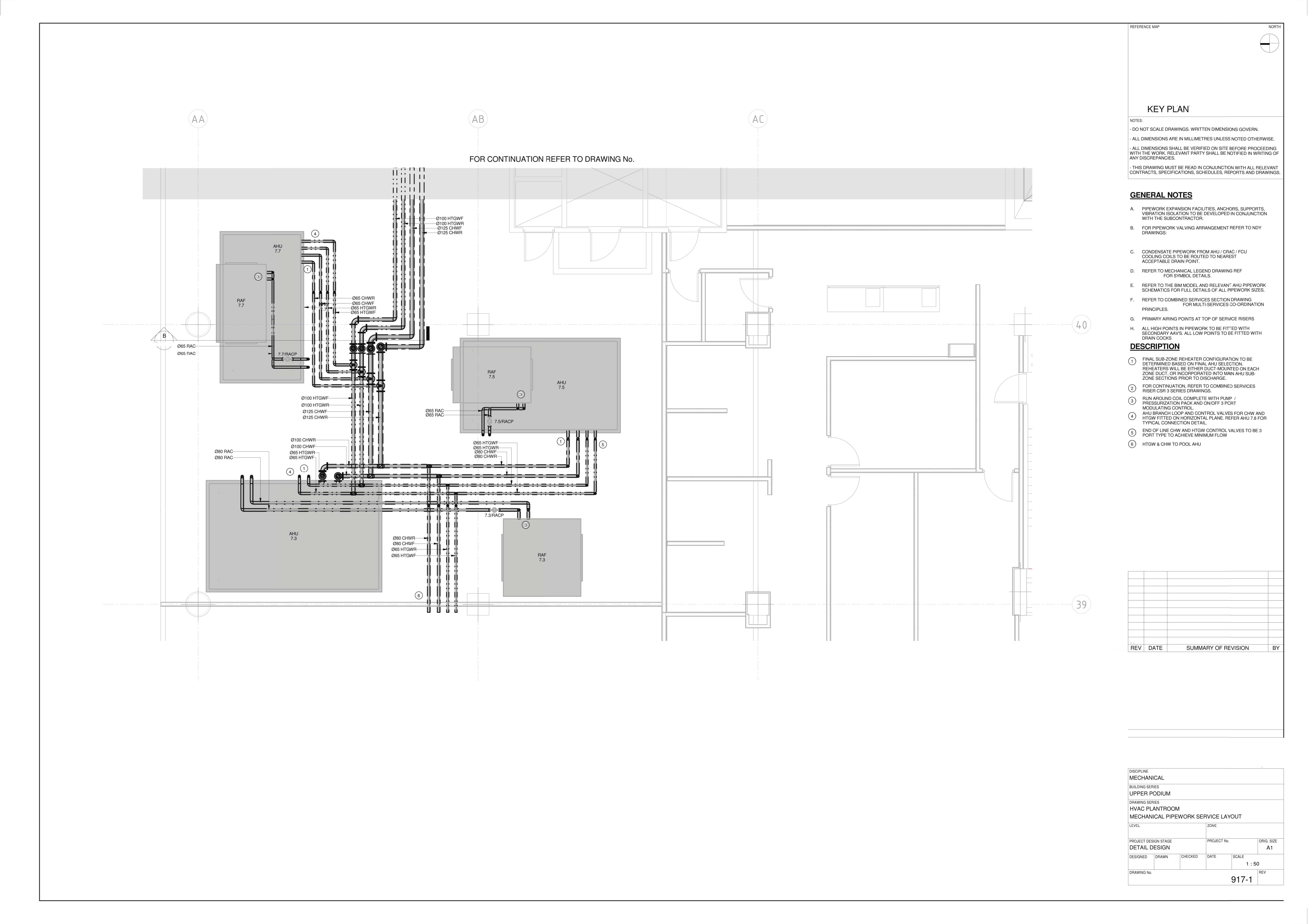 Mechanical Pipework Service Layout 1