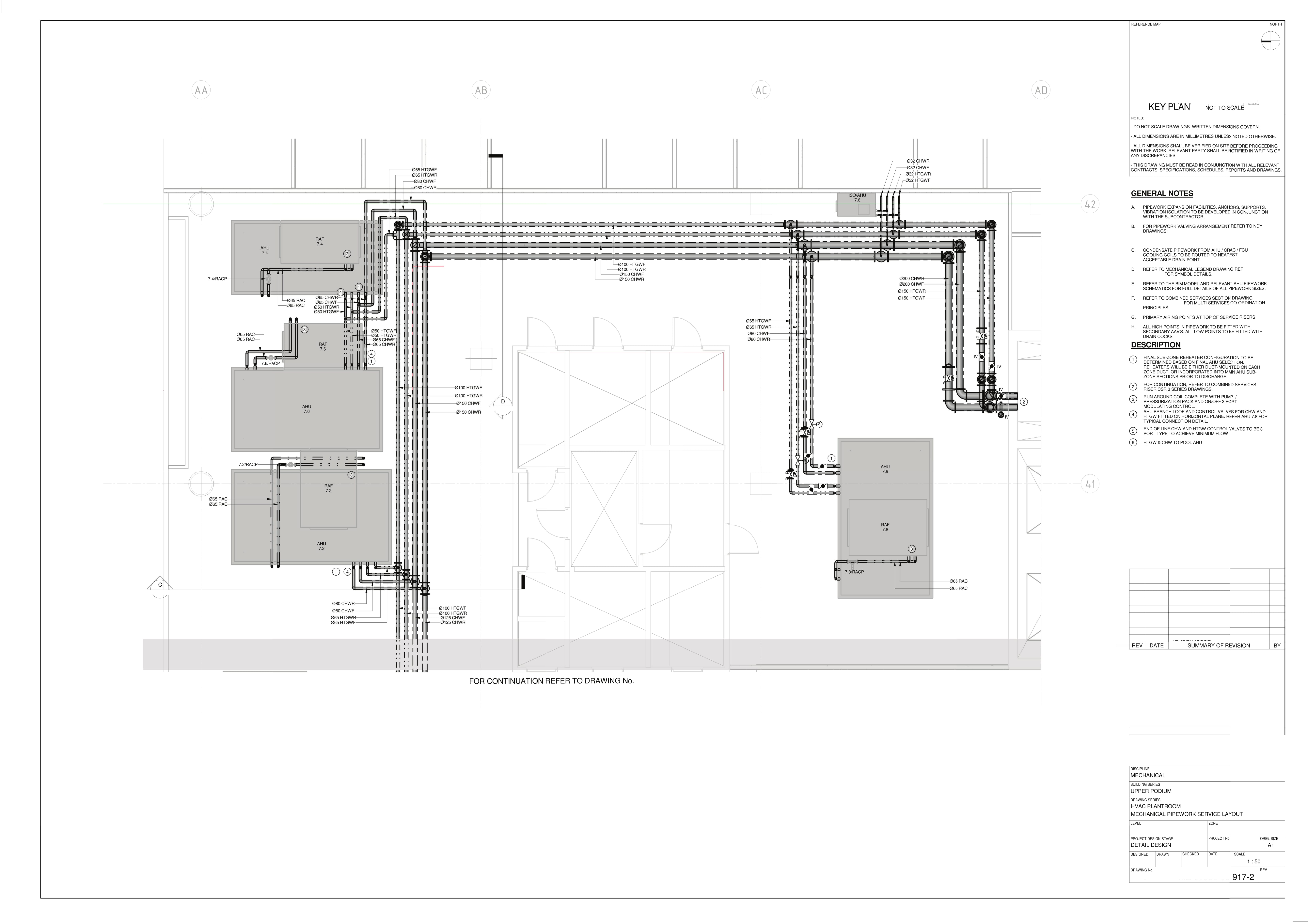 Mechanical Pipework Service Layout 2