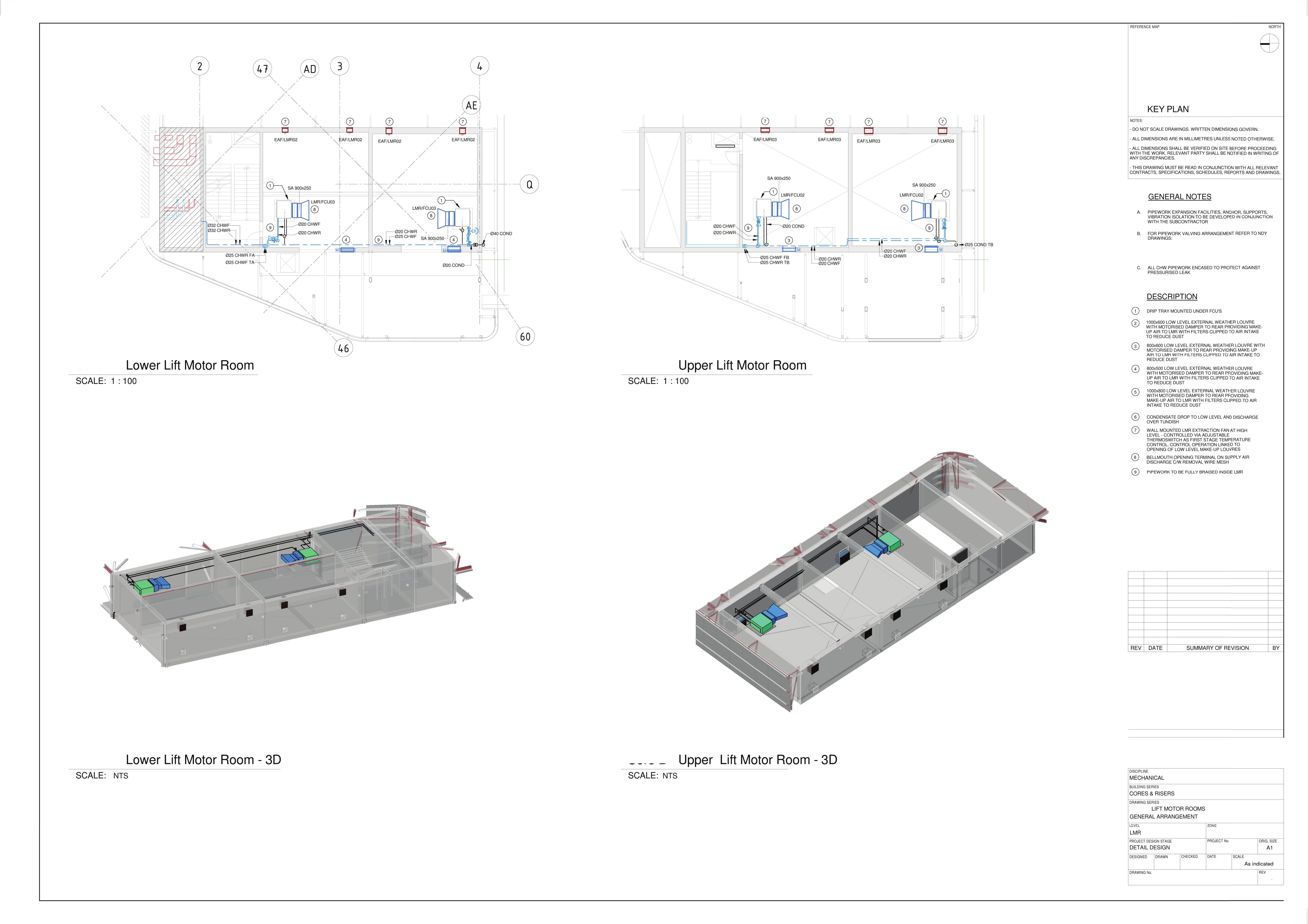 Lift Motor Rooms General Arrangement 2