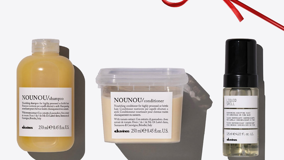 NOUNOU + Liquid Spell Set For nourishment and repair 1 pz.  Davines NOUNOU + Liq