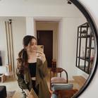 ELLE STUDIO Olive Green Trench Coat with Tie-Up Waist