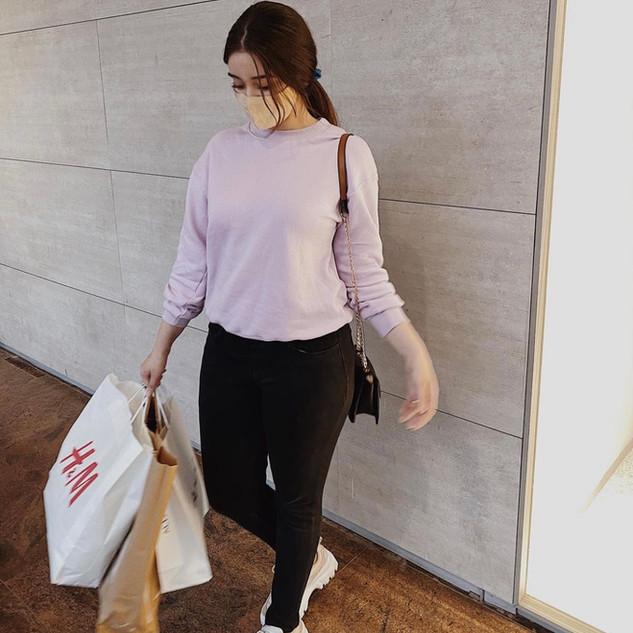 TEAMSPIRIT Lilac Sweatshirt with Drop Sleeve