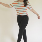 Striped Top with Drop Shoulder Sleeves