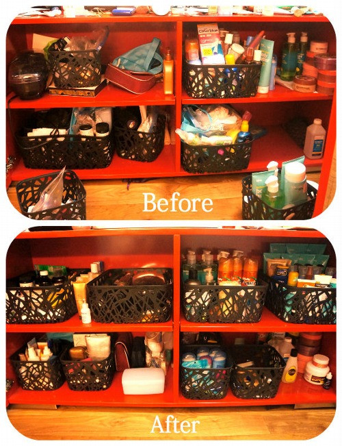 Toiletry Storage Before and After Pics!