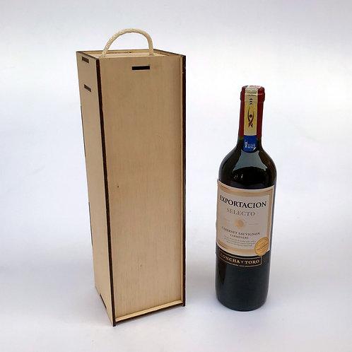 Caja para vino 750cc