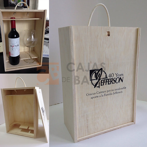 Caja vino y copa