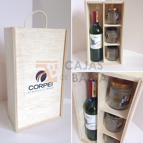 Caja para vino y frascos