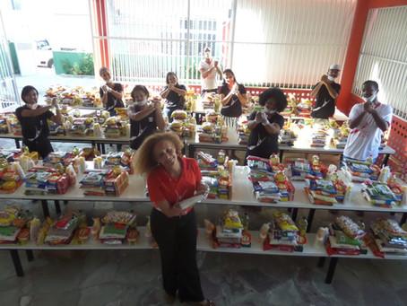Essenskörbe für bedürftigste Familien – die Hilfsaktion im Projeto Crescer wird fortgeführt