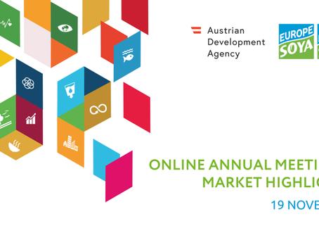 DONAU SOJA Online Annual Meeting & Market Highlights, 19 November 2020