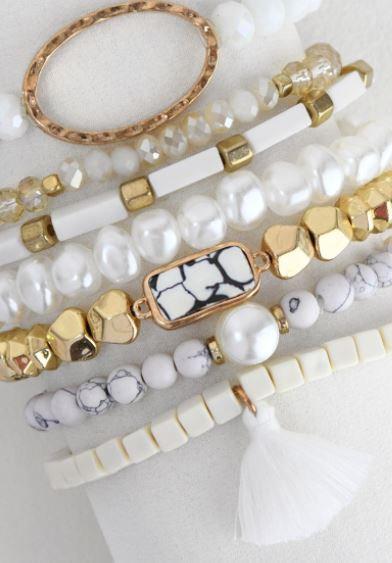 Pearl Seven Bracelet Set