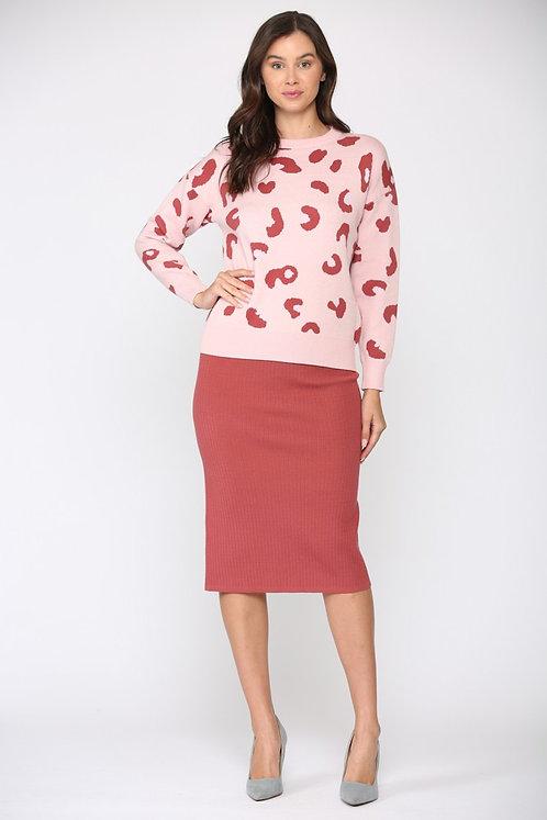 Valentine Leopard Sweater