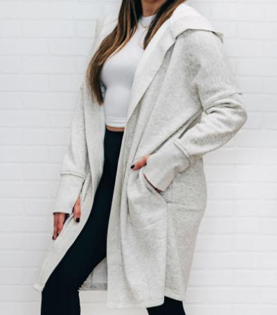 Open Front Fleece Jacket