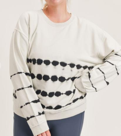 Plus Cotton Tie-Dye Pullover