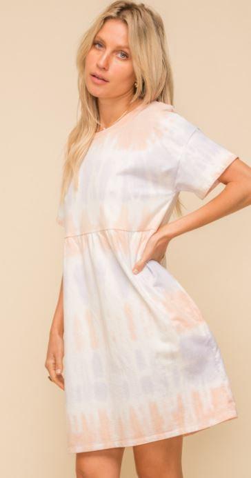 Tie Dye Terry Babydoll Dress
