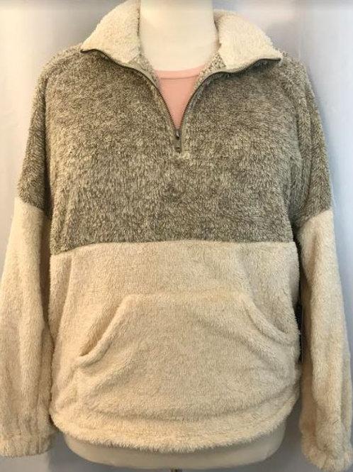Two Tone Zipper Pullover