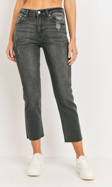 Black Washed High Rise Jeans