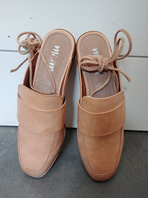 Tan Slide Leather Loafer