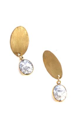 Stone & Marble Dangle Earrings