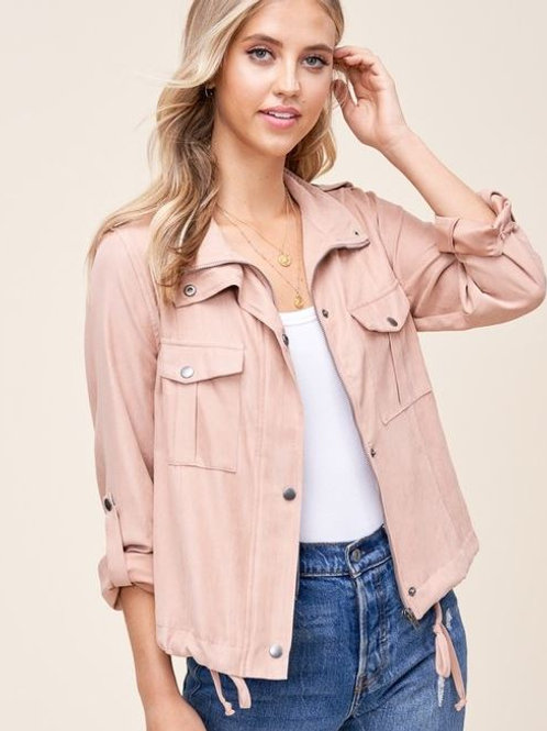 Peach Skin Crop Jacket