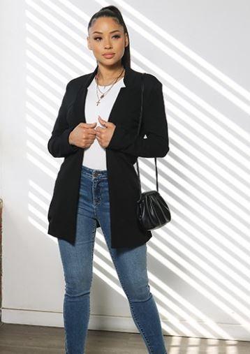 Timeless Black Notch Collar Blazer