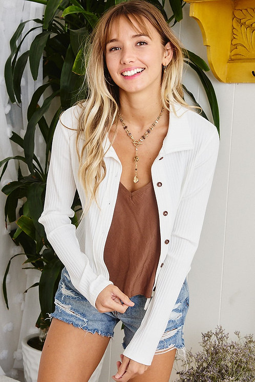 Button Up Solid Top