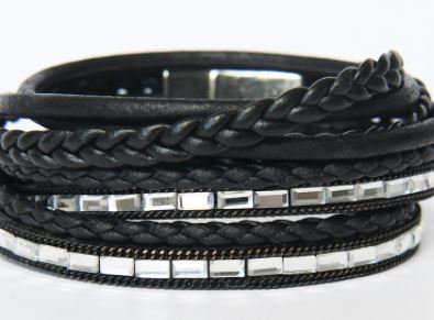 Multi Strand Braided Leather Bracelets